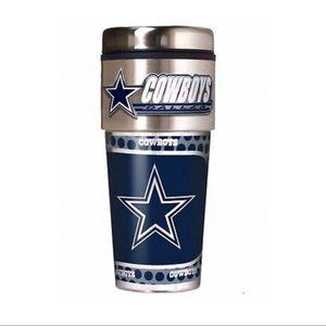 NFL Dallas Cowboys Steel Travel Tumbler Coffee Mug